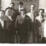 Николай Демченко (второй слева) с коллегами, 1 мая 1979 год